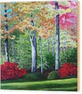 Greenfield Lake Garden Wood Print