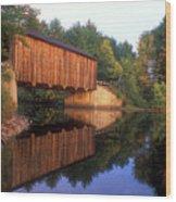 Greenfield Nh Covered Bridge Wood Print