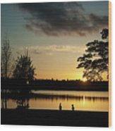 Greenlake Evening Wood Print