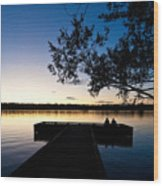 Greenlake Sunset Wood Print