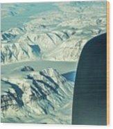 Greenland From Flight Level 380 Wood Print