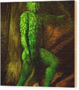Greenman Wood Print