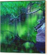 Greens 01 Wood Print