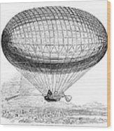 Greens Balloon, 1857 Wood Print