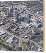 Greensboro Aerial Wood Print