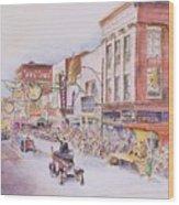 Greensboro Christmas Parade 1960 Wood Print