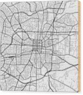 Greensboro North Carolina Usa Light Map Wood Print