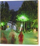 Greenville At Night Wood Print