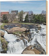 Greenville Panorama Wood Print