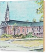 Greer United Methodist Church Wood Print by Patrick Grills