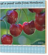 Greeting Card - Cherries #1 Wood Print