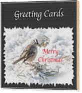 Greeting Card Cover Photo Wood Print