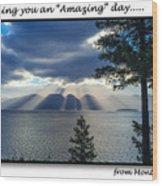 Greeting Card - Flathead Lake Wood Print