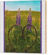 Greeting Card - Lupine Love Wood Print