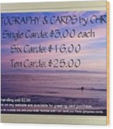 Greeting Card Pricing Info Wood Print