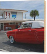 Greetings From Florida Wood Print