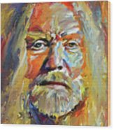 Greg  Allman Tribute Portrait Wood Print