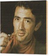 Gregory Peck, Vintage Actor Wood Print