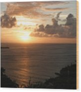 Grenadian Sunset I Wood Print