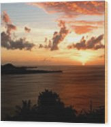 Grenadian Sunset  II Wood Print