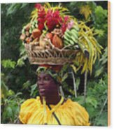 Grenadian Woman Wood Print
