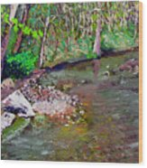 Gressy Creek Wood Print