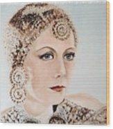 Greta Garbo As Matahari Wood Print