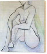 Gretchen - Female Nude Drawing Wood Print