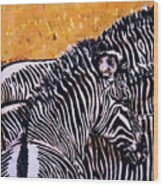 Grevy Colt Wood Print by Dy Witt