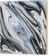 Grey And Black Metal Marbling Effect Abstract Wood Print