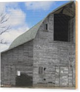 Grey Barn Wood Print