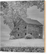 Grey Barn On A Grey Day Wood Print