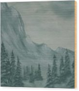 Grey Day Wood Print
