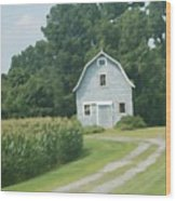 Grey Farmhouse - Northern Neck Wood Print