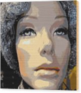 Grey Glitter Gertrude Wood Print