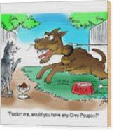 Grey Poupon Wood Print