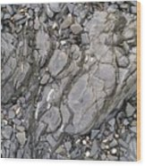 Grey Rocky Shore. Wood Print