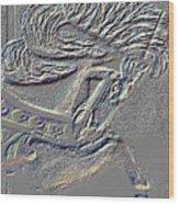 Grey Stone Carousel Horse Wood Print