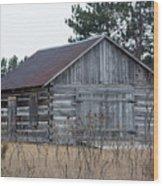 Grey Stripes Wood Print