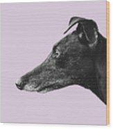 Greyhound Profile Design Wood Print