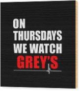 Grey's Anatomy Wood Print