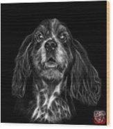 Greyscale Cocker Spaniel Pop Art - 8249 - Bb Wood Print
