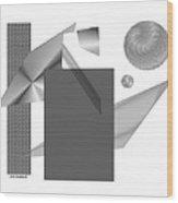 Greyscale Wood Print