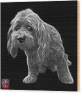 Greyscale Lhasa Apso Pop Art - 5331 - Bb Wood Print