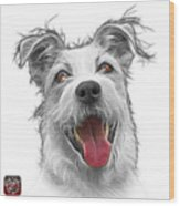 Greyscale Terrier Mix 2989 - Wb Wood Print