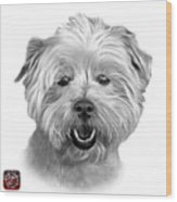 Greyscale West Highland Terrier Mix - 8674 - Wb Wood Print