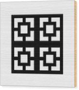 Grid 1  Wood Print