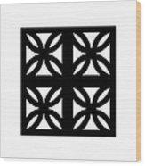 Grid 3  Wood Print