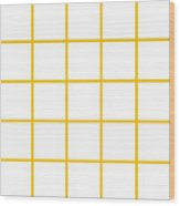 Grid Boxes In White 05-p0171 Wood Print
