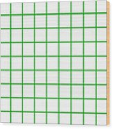 Grid Boxes In White 09-p0171 Wood Print